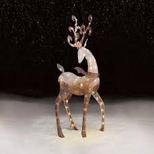 outdoor reindeer lighted deer sculpture lawn