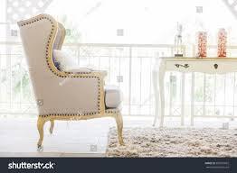beautiful luxury sofa decoration livingroom interior stock photo