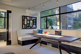 Wooden Banquette Seating Home Design Fascinating Modern Banquette Brown Leather Seating