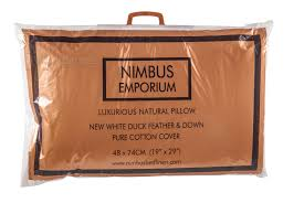 nimbus superior new white hungarian goose down pillow free