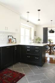 tiled kitchen floors ideas kitchen white kitchen grey tile floor gray flooring ideas