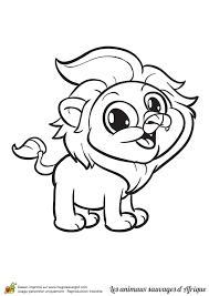 Coloriage Animaux Sauvages dAfrique le Lion