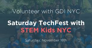 volunteer with gdi saturday techfest with stem nyc digital nyc