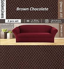 sofa and love seat covers amazon com stretch form fit 3 pc slipcovers set couch sofa