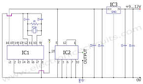 50hz 60hz frequency generator circuit using crystal oscillator