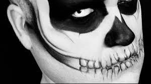 Mac Halloween Makeup by Halloween Psychotic Skull Makeup Youtube