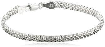 bracelet mesh silver sterling images Sterling silver mesh chain bracelet 7 the jewelry barn jpg