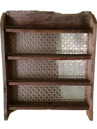 18 Jar Spice Rack Frontier Industrial Spice Rack Rustic Spice Jars And Spice