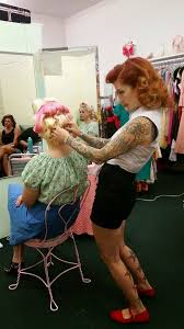 Makeup Classes Las Vegas Vintage Starlet Pinup Hair And Makeup With Cherry Dollface