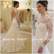 wedding dress lace back and sleeves turmec lace wedding dress with sleeves and open back