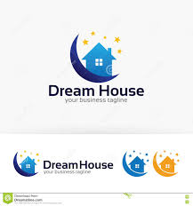 dream house vector logo design stock vector image 82631227