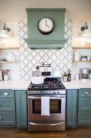 Green Brick Backsplash Tiles Transitional Fixer Upper House Seasons Chicken Houses And Joanna Gaines