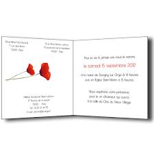 texte pour invitation mariage faire part mariage coquelicots carte invitation et remerciement menu