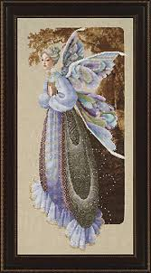 fairy grandmother lavender and lace fairy grandmother cross stitch pattern