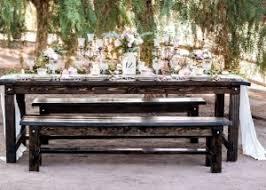 bench rentals 4 column text rustic events