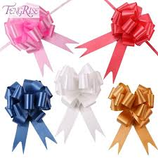 pull ribbon fengrise 30pcs 30mmx120cm pull bows large ribbon wedding