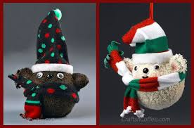 how to diy teddy ornaments from fuzzy socks crafts n coffee