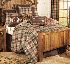 Plaid Bed Set Durango Plaid Comforter Set King