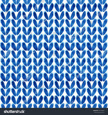 Blue Pattern Background Watercolor Seamless Knitted Blue Pattern Abstract Stock