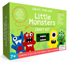amazon com craftster u0027s sewing kits little monsters beginners