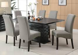 Contemporary Dining Room Grey Simple Beautiful Table Decoration - Black and white contemporary dining table