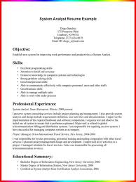 business systems analyst resume examples example of business
