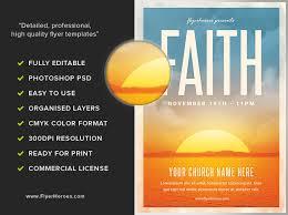 faith church event flyer flyerheroes
