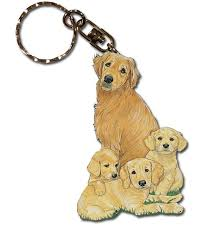 wooden key chain golden retriever wooden dog breed keychain key ring