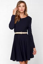 glamorous fair weather navy blue sweater dress where to buy