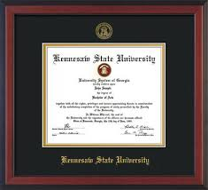 degree frames kennesaw state diploma frames with custom ksu detailing