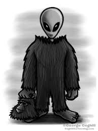 bigfoot u0027s secret identity cartoon sketch coghill cartooning
