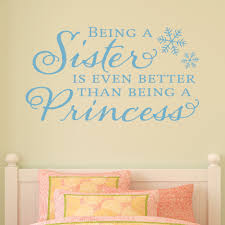 sister princess snowflake wall quotes decal wallquotes com sister princess snowflake wall quotes decal
