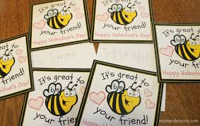 bee valentines free printable