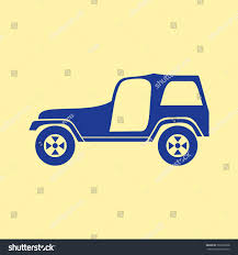 jeep light blue blue colored jeep icon on light stock vector 393266938 shutterstock