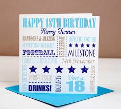 birthday cards for him images 18th birthday milestone card for him by designs