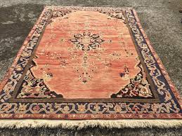 Plain Area Rugs Area Rug Vintage Hand Knotted Rug Faded Red Rug Color Rug