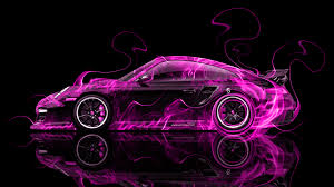 porsche pink porsche 911 gt2 side fire abstract car 2014 el tony