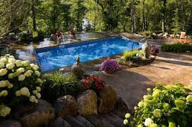 Backyard Pool Landscaping Pictures by Shaded Backyard Swimming Pool Landscape Southview Design