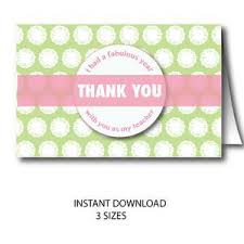 thank you cards for teachers thank you card for teachers appreciation week cards