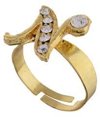 name ring gold modish look adjustable n alphabet name ring buy modish look