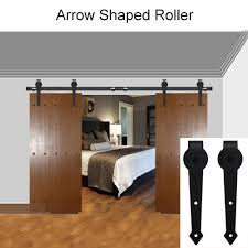 american style sliding barn door hardware sliding track kit arrow