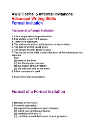 formal invitations formal informal invitations social conventions social