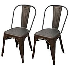 Black Metal Bistro Chairs Glamorous Adeco Metal Stackable Industrial Chic Dining
