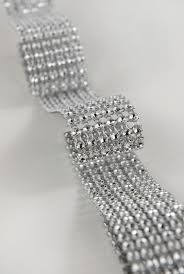 bling ribbon mesh wrap 6 rows rhinestone ribbon 10ft simulated rhinestones