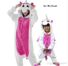 Womens Unicorn Halloween Costume Animal Pajamas Piece Family Matching Mother
