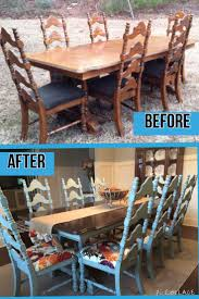 Painted Dining Table by Best 25 Refinished Dining Tables Ideas On Pinterest Refurbished