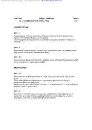 front office sle layout accommodation management notes