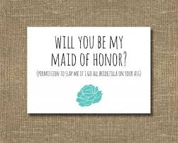 bridesmaid invitations will you be my of honor ask of honor ask