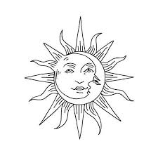 tattify sun and moon temporary sol y set of 2