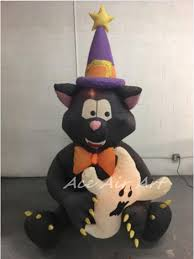 aliexpress com buy inflatable halloween sitting black cat with